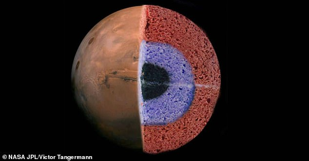 Nice surprise: a look inside Mars reveals that the crust of the Red Planet looks like a three-tiered cake