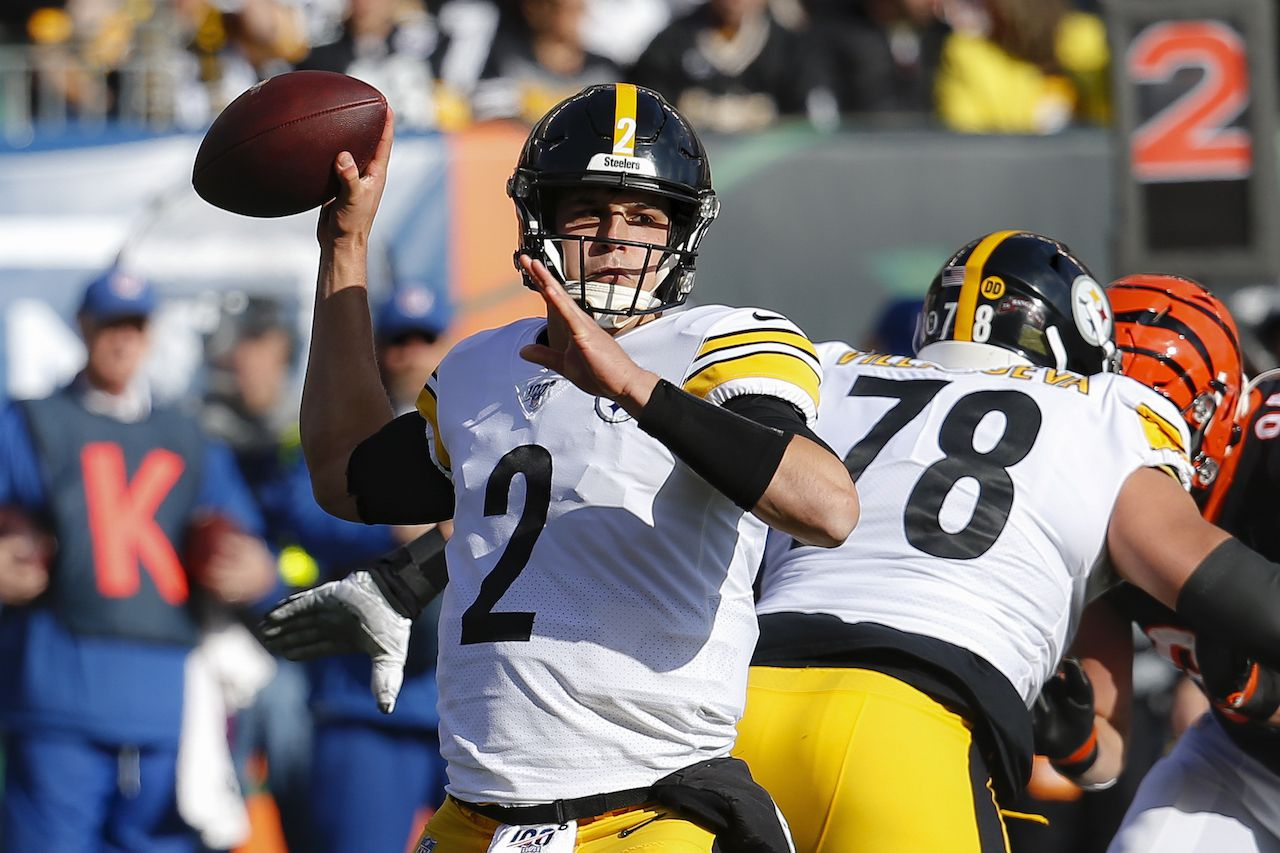 Brown jumps to the favorite with 10 points against the Pittsburgh Steelers after Mason Rudolph kicks off the start