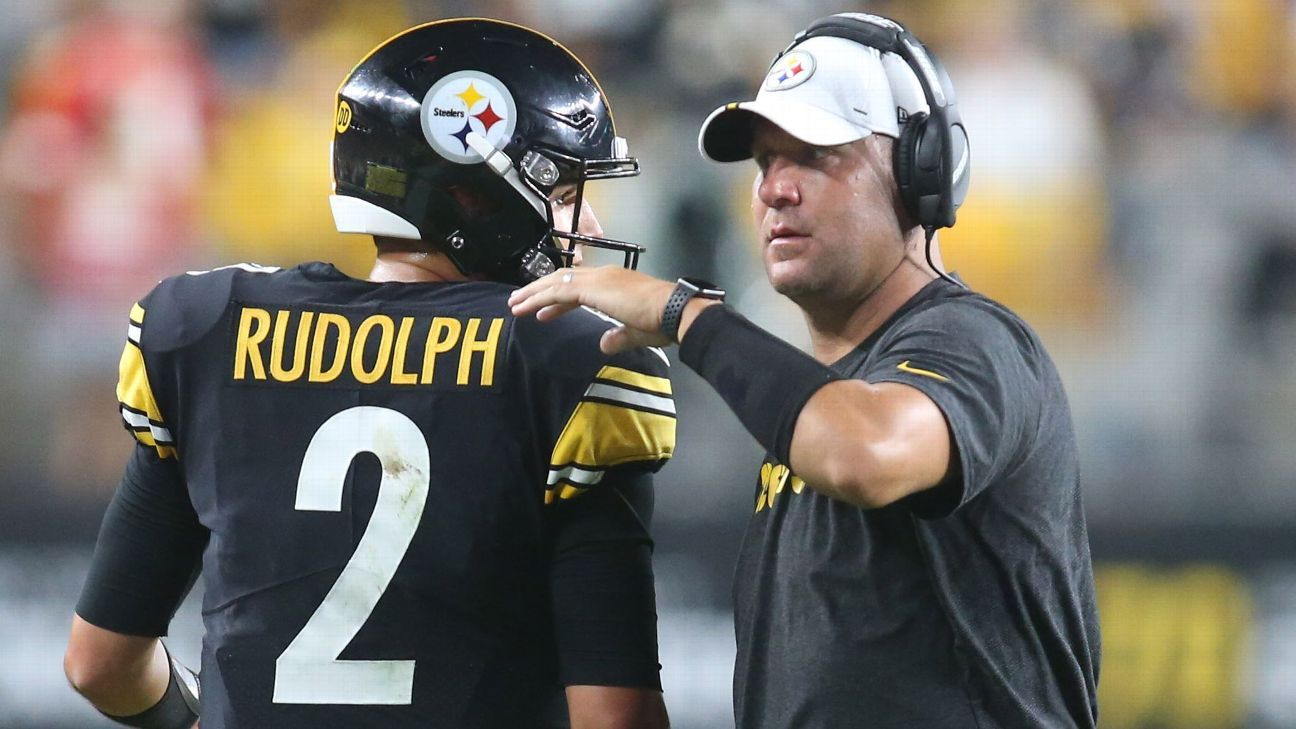 Pittsburgh Steelers Ben Rothlesberger sits, Mason Rudolph to start against the Cleveland Browns