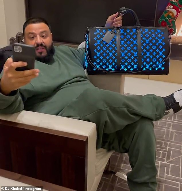 DJ Khaled lights up Instagram with a color-changing $ 26,000 Louis Vuitton bag offered by his wife