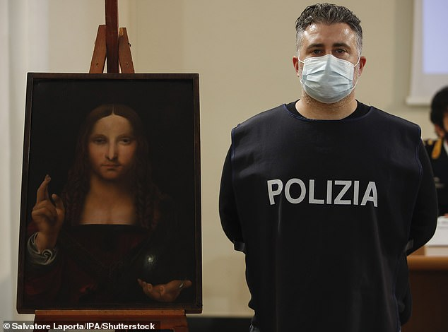 The Italian news agency AGI reported that the painting, widely attributed to Leonardo da Vinci, was part of the Duma collection at the Basilica di San Domenico Maggiore in Naples.