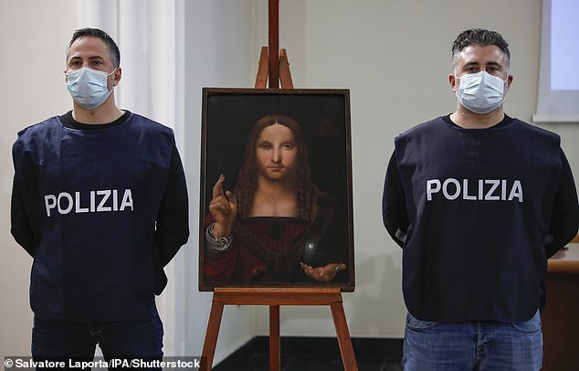 "Da Vinci's painting ""Salvatore Mundi"" was found stolen from the Cathedral of Naples in a local apartment"