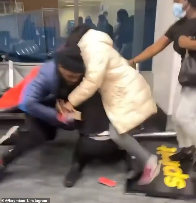 Tensions escalated after passengers were asked to check the suitability of their bags on the plane