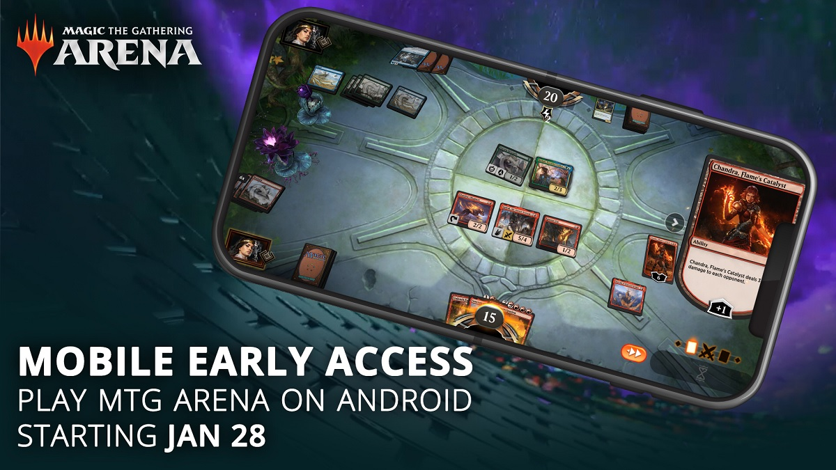The Gathering Arena can be downloaded for free now on Android