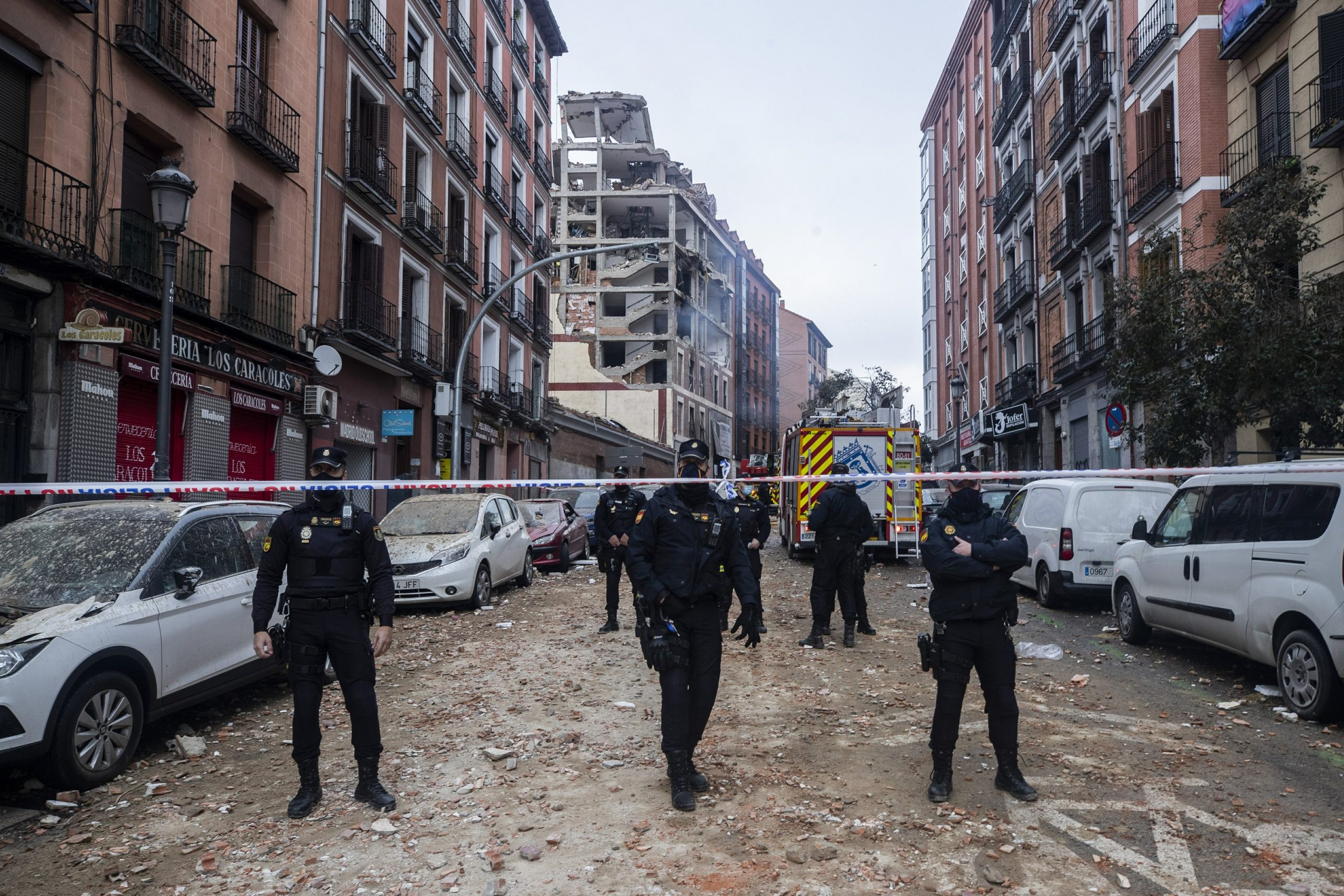 Gas explosion in Madrid building, killing 4