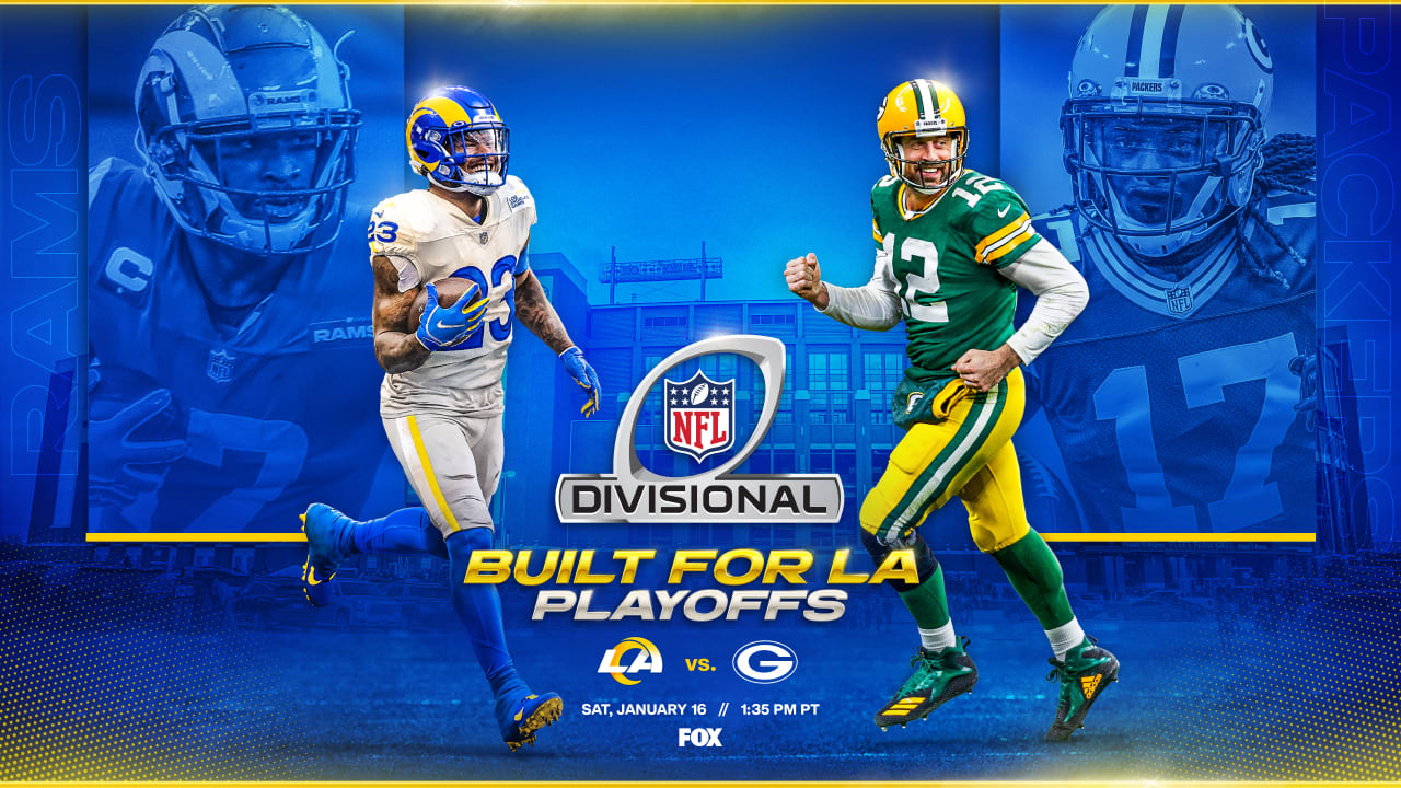The Rams travel to Green Bay to meet the Packers on the Division Round