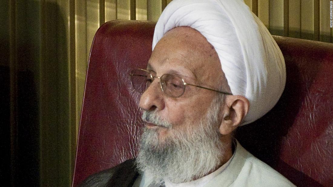 The death of an Iranian conservative cleric, according to state media