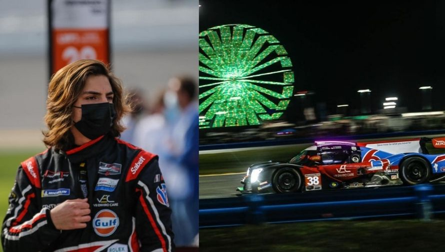 Guatemalan Matteo Larina competed in the 24 Hours of Daytona