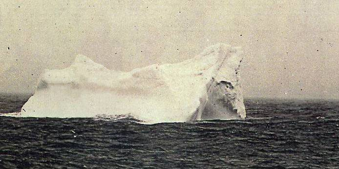 Iceberg on which Titanic might collide