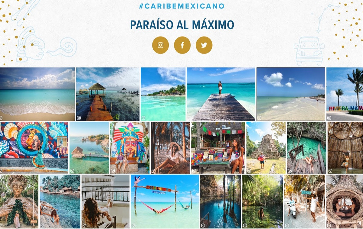 Mexican Caribbean with 1.5 million hits on its website