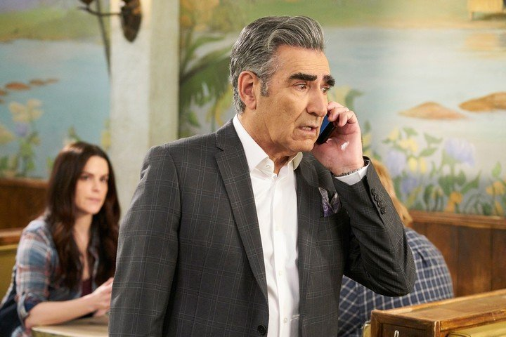 """Eugene Levy, the creator and hero """"Chet Creek""""In a scene from the series.  AP Pictures"""