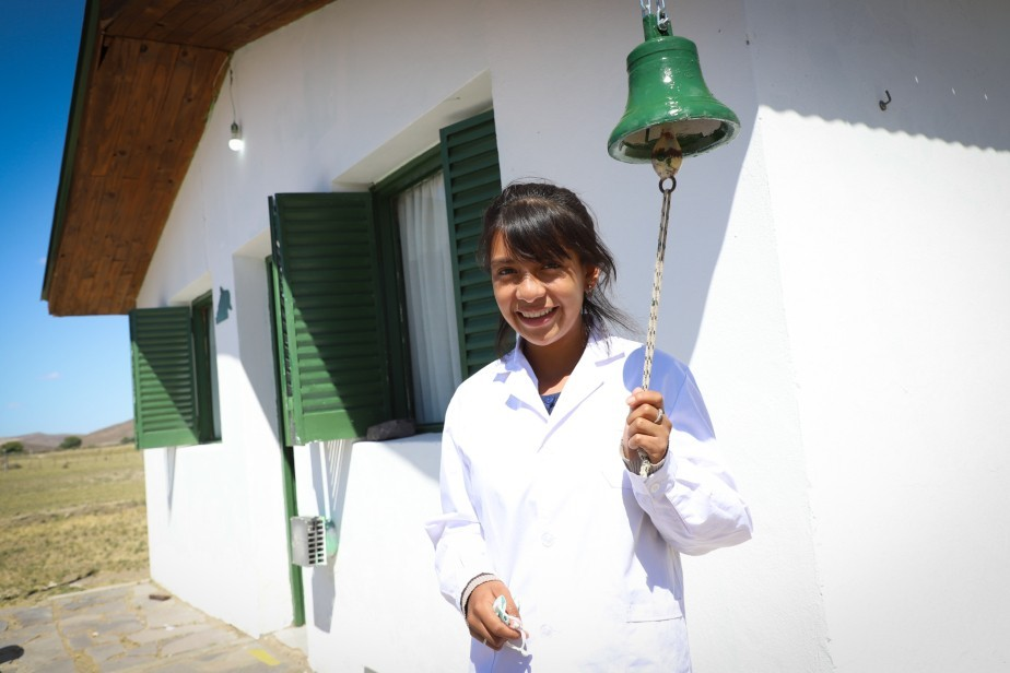 Birla Peña, 15, is excited about the reopening of her school.  He wants to study medicine – Mas Rio Negro