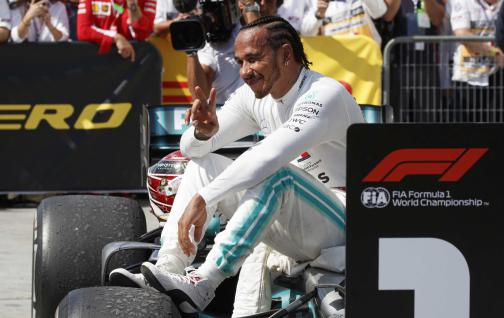 Driver Lewis Hamilton renews another year with Mercedes