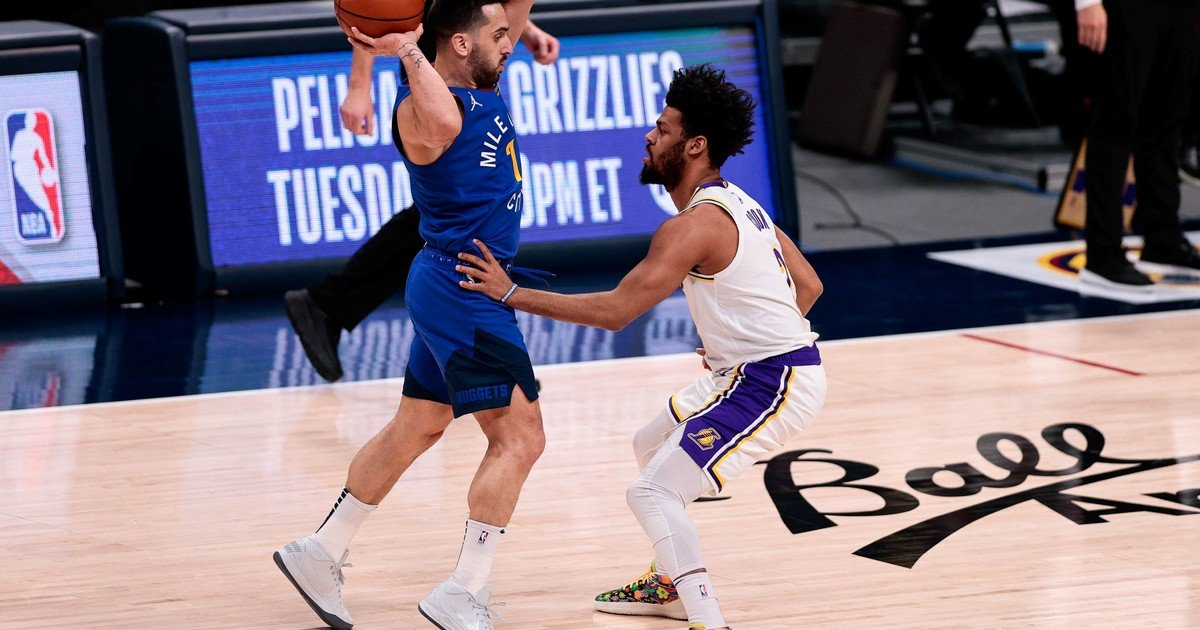 Facundo Campazzo played his best game in the NBA and Denver fell to the Lakers