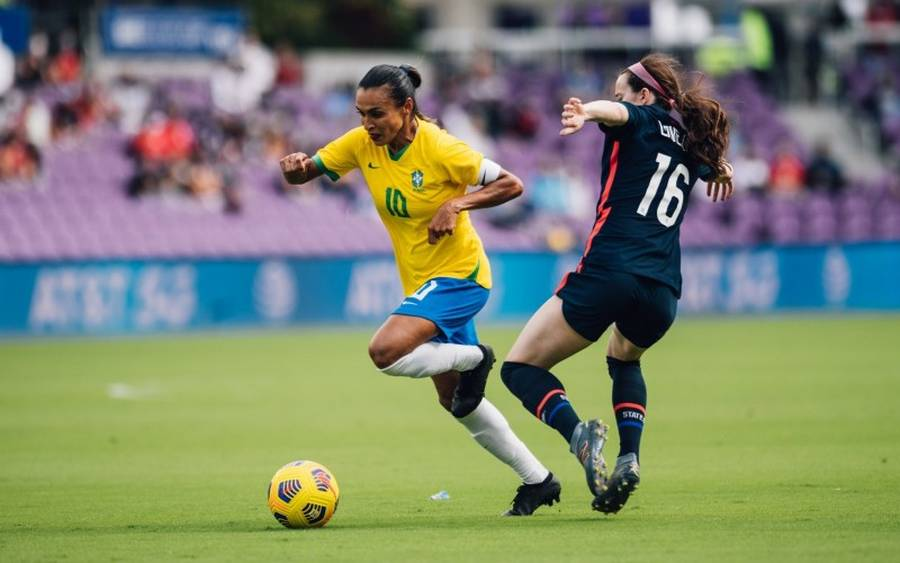 The Brazil women's national team lost to the United States in Orlando