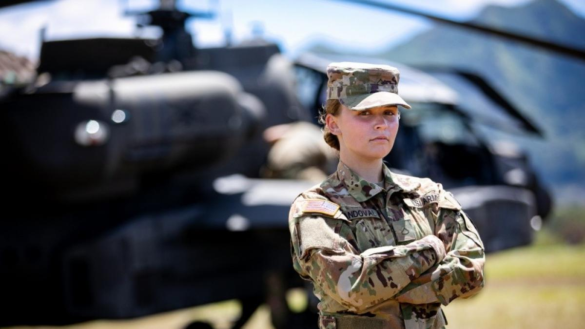 The US Army permits the use of ponytails for female soldiers