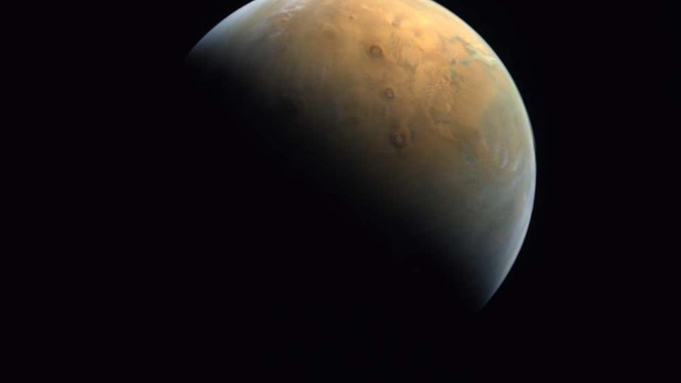 The first image of Mars taken by the space probe …