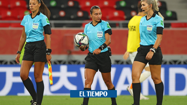 The first woman to lead a men's match in FIFA championships – international football – sport