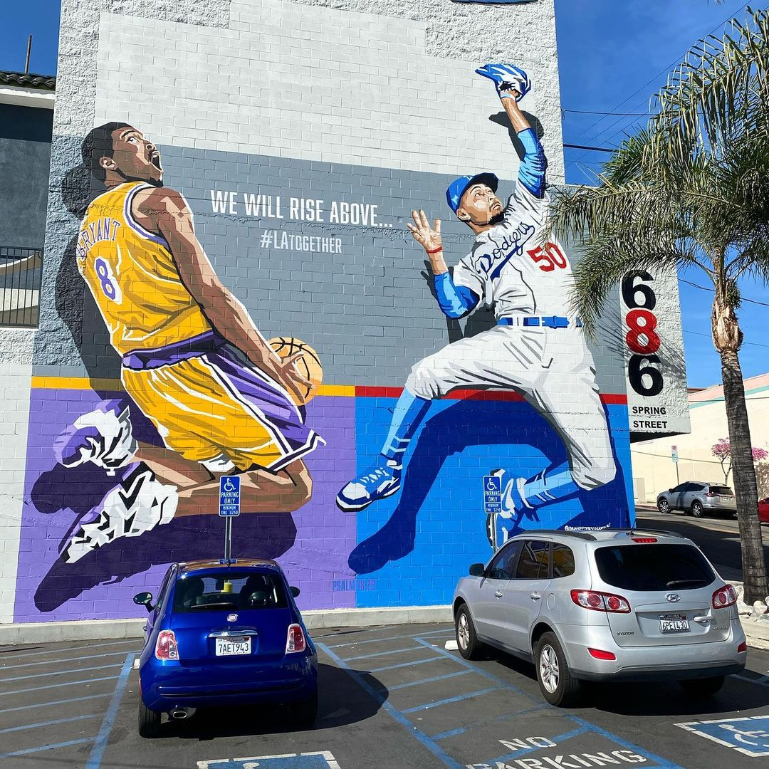 Mookie Betts mural, Kobe Bryant