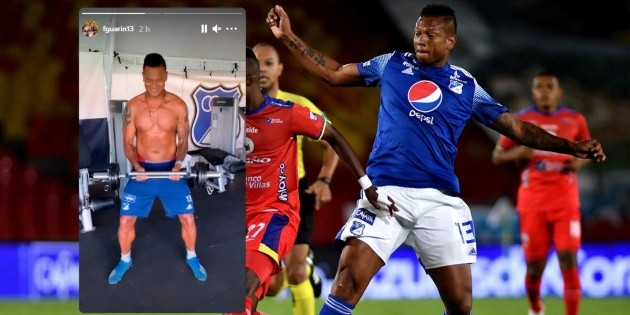 Freddy Guaren News Today, Millonarios midfielder posted photos on his Instagram of how to recover, personal weight training and get fit BetPlay League 2021