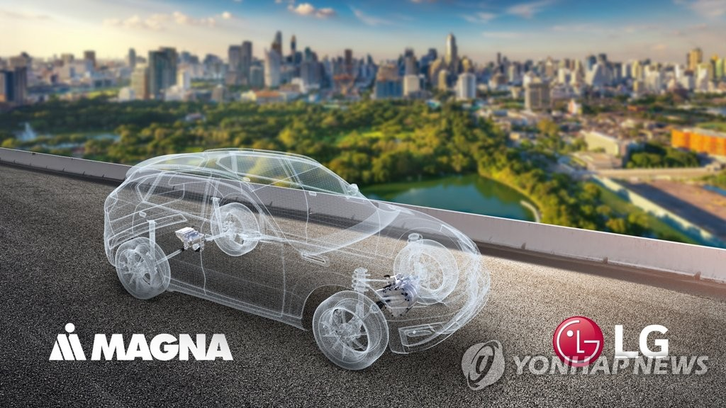 LG shareholders agree to separate a portion of their electric vehicle parts business to establish a joint venture with Magna
