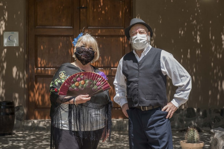 The activities of the theatrical cast formed by the elderly began