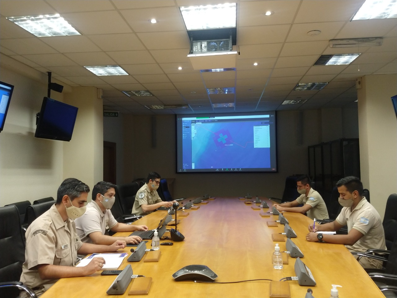 """The governorate participated in the regional virtual exercise """"Sarkis 4"""""""