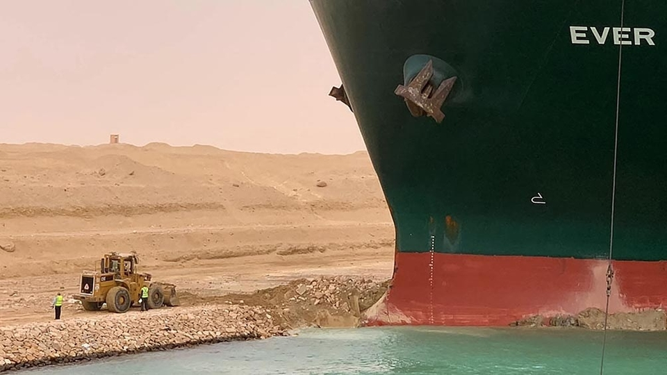 The option they're evaluating to make the ship run aground …