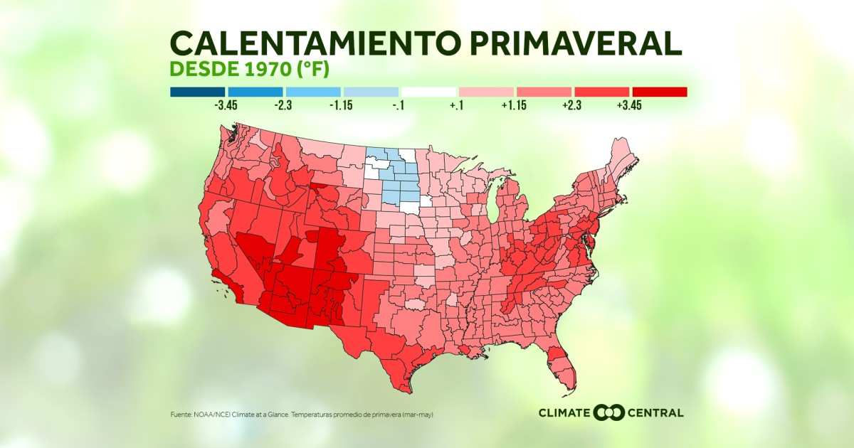 We are already seeing a warming spring in the US
