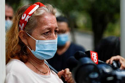 Rosebel Emerita Ariaza, Victoria's mother, traveled to Mexico to solve problems related to Victoria's death (Photo: Reuters / Jose Cabezas / Archive)