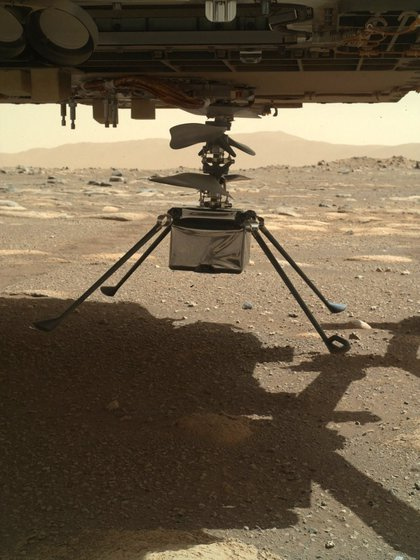 Innovation after deployment under the Perseverance Rover (NASA / JPL-CALTECH / AFP)