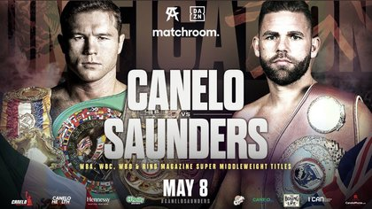Saúl Canelo Álvarez will face Billy Joe Saunders on May 8 (Photo: MatchroomBoxing)