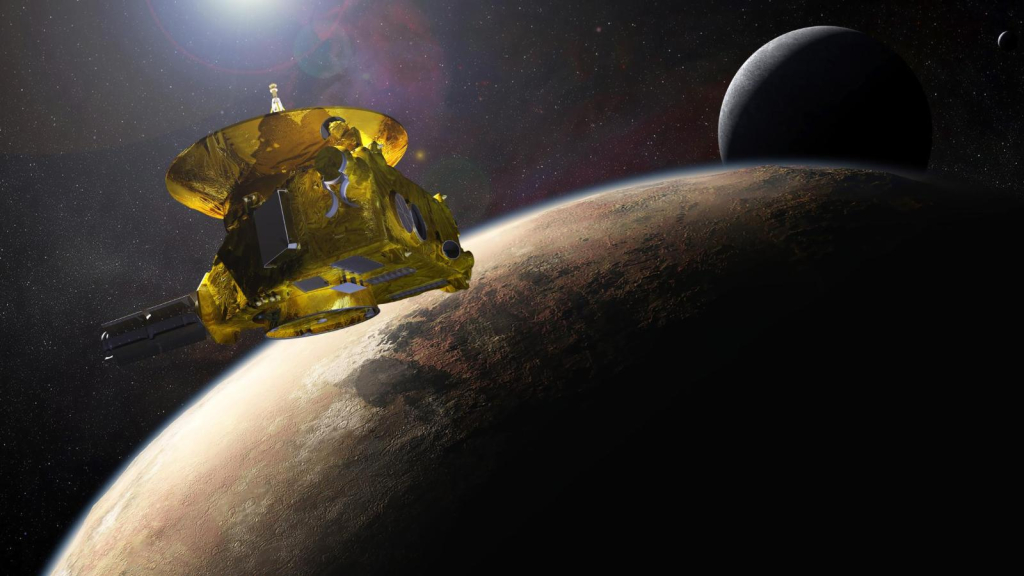 The New Horizons probe represents an astronomical sign in space