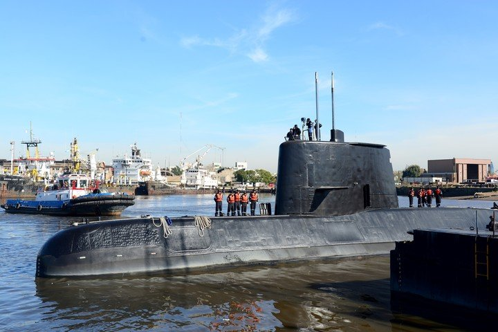 In November 2017, the Argentine submarine ARA San Juan with its 44-man crew disappeared in the South Atlantic.  Photo: Reuters