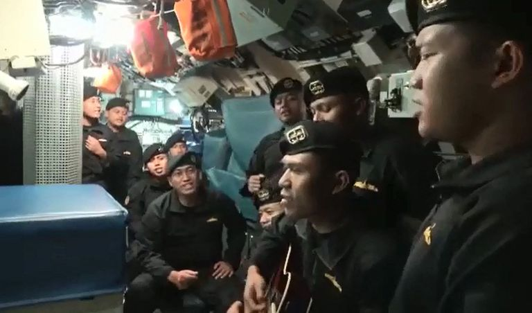 The sentimental farewell song for sailors who perished in an Indonesian submarine