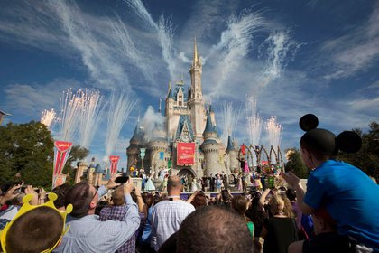 File image of a fireworks display just outside Cinderella Castle during the grand opening of the new Fantasylandia theme park at Walt Disney World in Lake Buena Vista, Florida, USA.  December 6, 2012. Reuters / Scott Odette / Archive