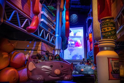 Photo courtesy of Disney shows the games section of the new Family Attraction area