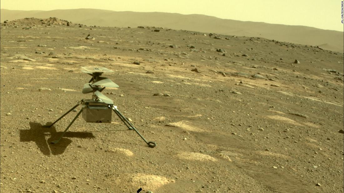 Helicopter ingenuity survives the first frosty night on Mars