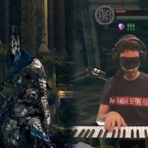 Streamer defeated the Dark Souls' toughest president with piano and without sight