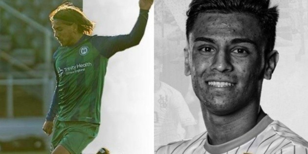 Two Salvadorans sign soccer in the United States
