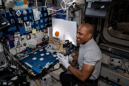 Image provided by NASA showing American astronaut Victor Glover, from the so-called SpaceX crew