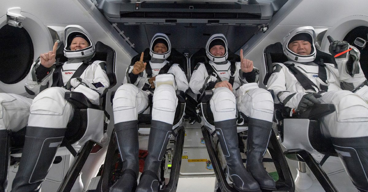 The SpaceX spacecraft has returned with four astronauts from the International Space Station to Earth