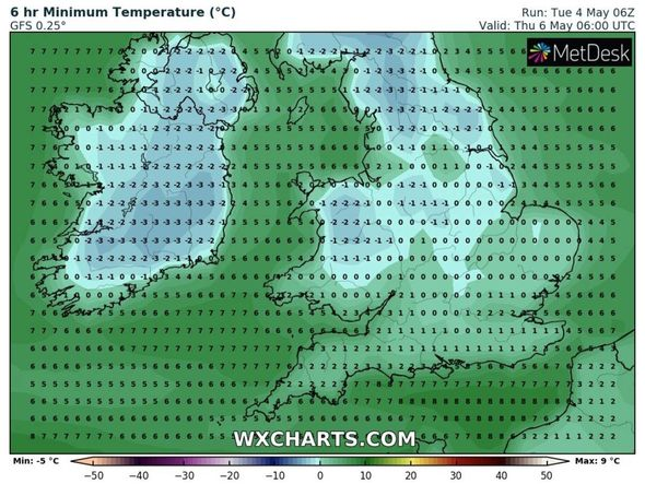 UK Weather Forecast: Temperatures may drop to -3 ° C in the northwest
