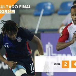 Cuba fell 2-4 to the United States