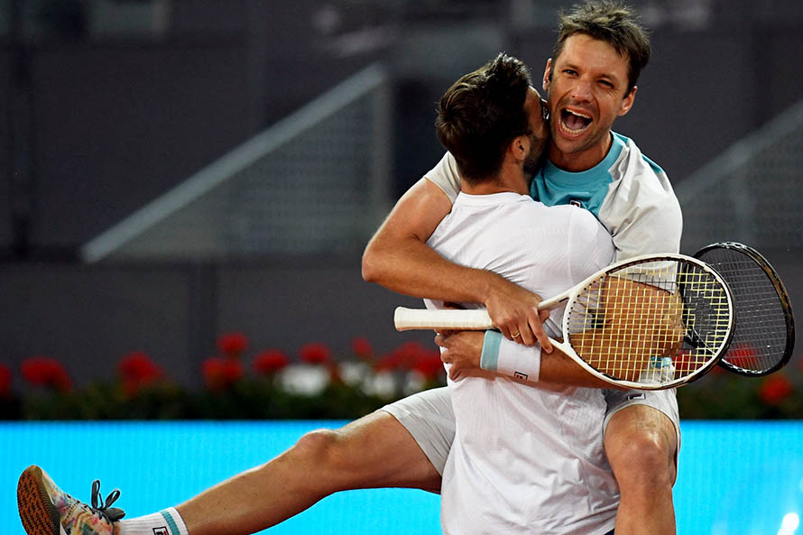 Horacio Zebalos and Marcel Granollers shouted the champions at the Madrid Masters (Photo: Madrid Open)