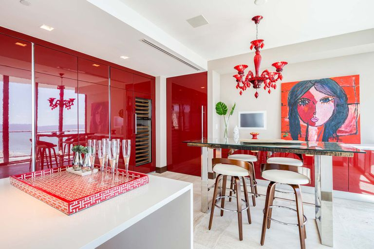 The apartment is very modern furnished and decorated