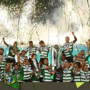 Celebrating Sporting de Portugal and other photos of the day in sport