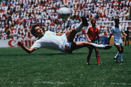 Manuel Negret scored the best goal for the Mexican national team in the 1986 World Cup Mexico (Photo: Twitter @ ferbelaunzaran)