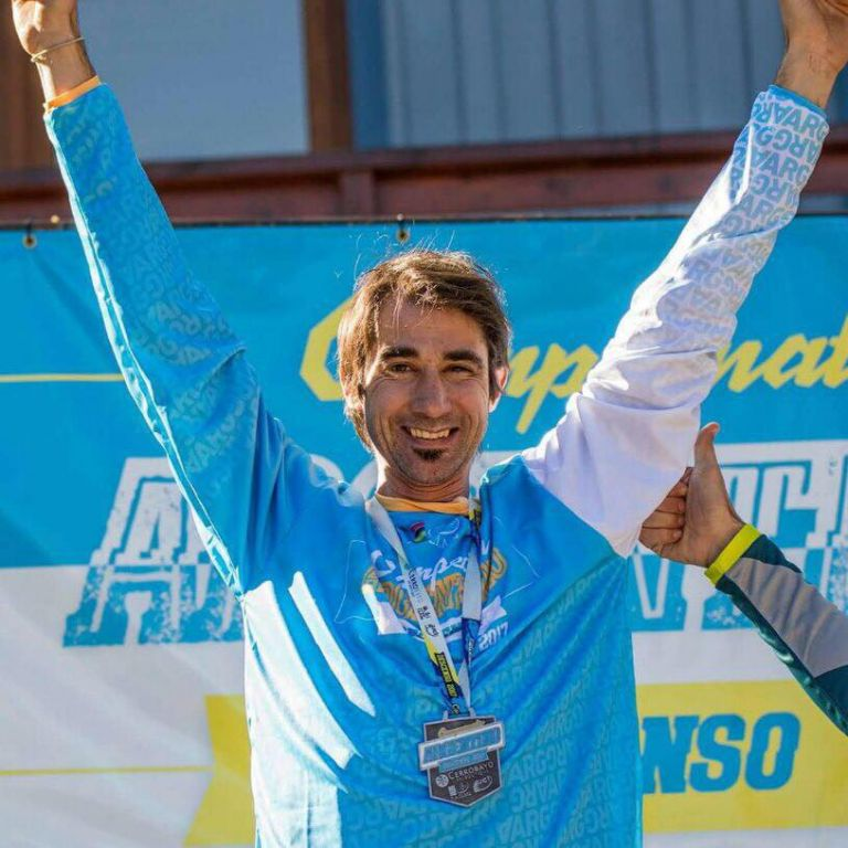 Martín Raffo has appeared in a Canadian series for his contribution to mountain biking