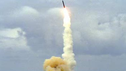Launch of an ICBM, similar to that used by the GMD system (archive)